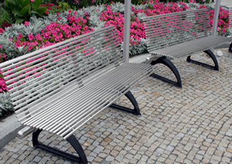Allison Park, PA Stainless Steel Benches